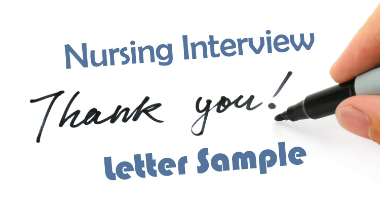 Nursing interview thank you letter sample how to write guide expocarfo